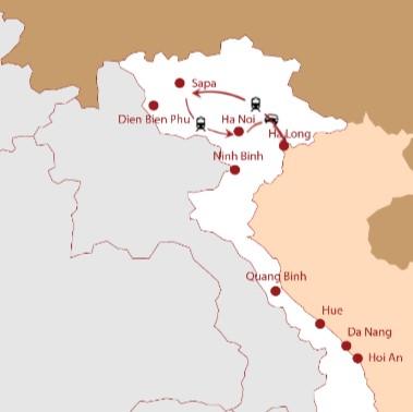Hanoi - Halong - Sapa maps