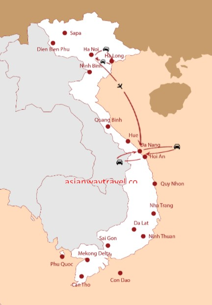 North and Central Vietnam Itinerary - Vietnam 8 Days